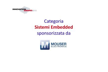 Il DLP4710 di TI vince la categoria Sistemi Embedded dell'Innovation Award
