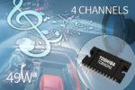 Amplificatore di potenza a 4 canali per car audio