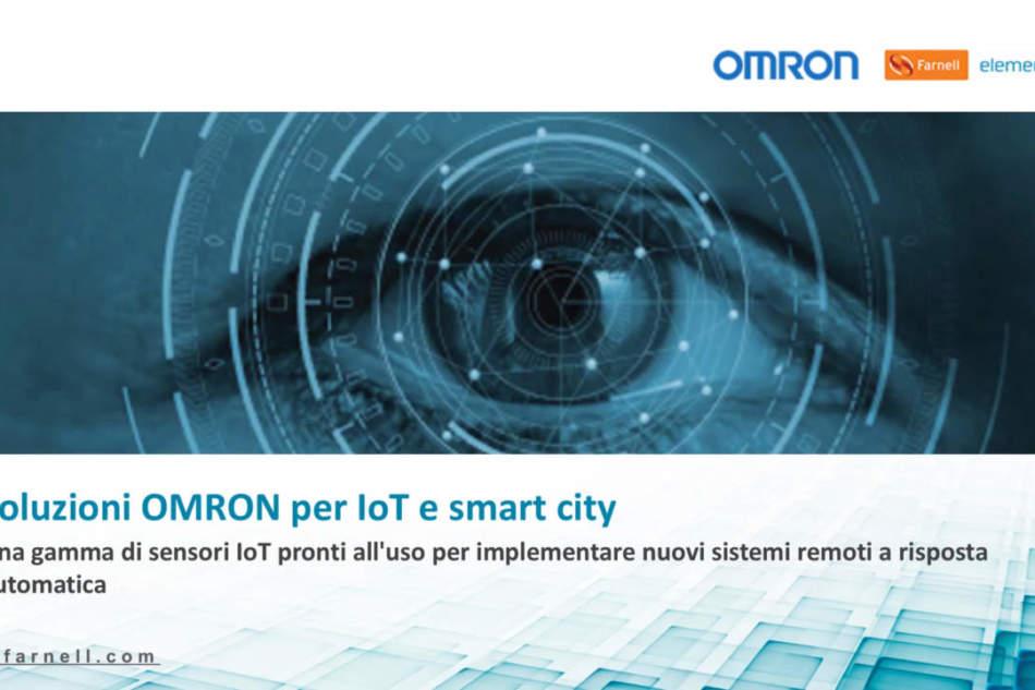 """Guarda il video del webinar """"Soluzioni OMRON per IoT e smart city"""""""