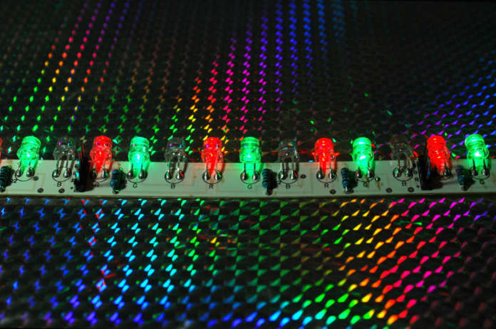 rgb light emiting diode display for liminous road signs