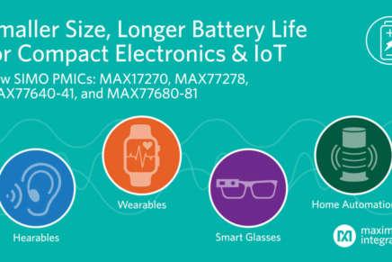 Maxim riduce di un ulteriore 50% le dimensioni dei PMIC SIMO per i dispositivi IoT