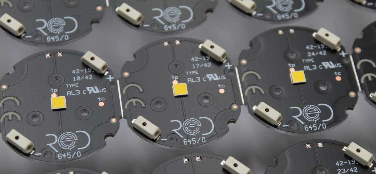 Moduli LED spot, una delle tante soluzioni di illuminazione proposte a marchio RED