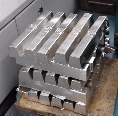 Lingotti prodotti con EVS 18KLF2