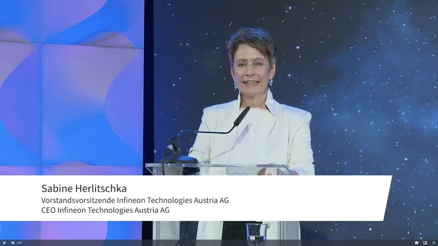Sabine Herlitschka, CEO di Infineon Technologies Austria AG