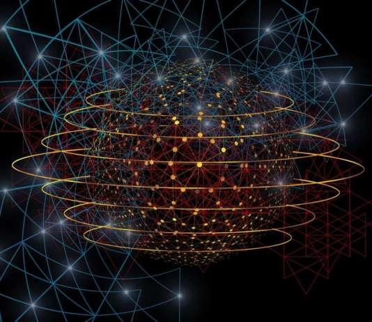 Network immagine astratta